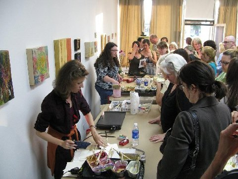 Grand Opening - photo by The Encaustic Center