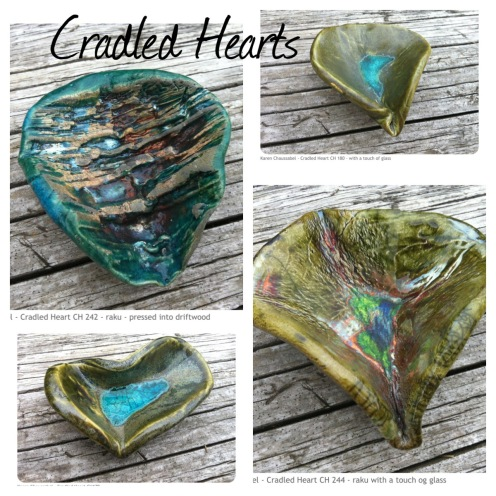 Cradled Hearts Ceramics Hearts