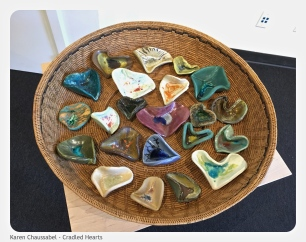 One-of-a-kind ceramic hearts
