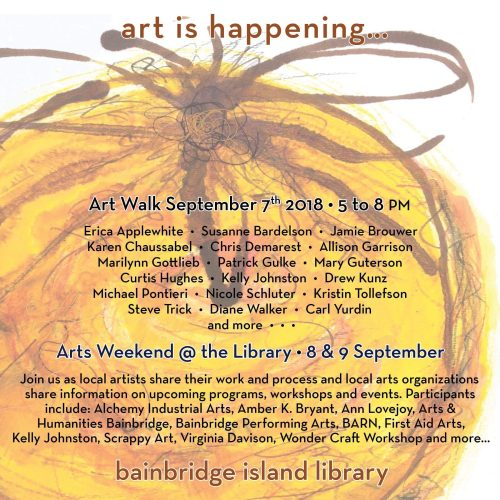 Art walk Invite Library 2018